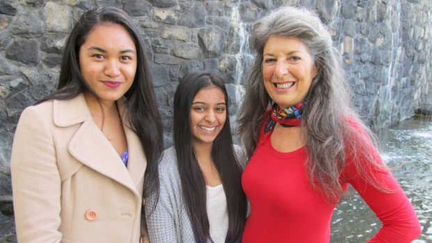 From left, Sources of Unconditional Love charitable trust South Auckland members Lahronda Liugalua and Yukta Verma, and the organisation's founder Julie Bartlett.